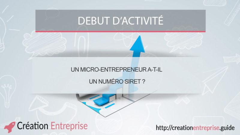 Un micro-entrepreneur a-t-il un numéro SIRET ?
