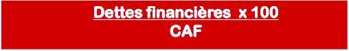 calcul capacité d'autofinancement